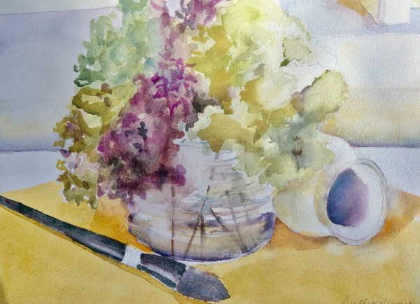 Hydrangeas in the Studio