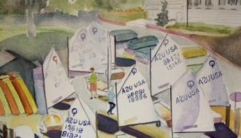 AYC Opti Launch, Original Watercolor