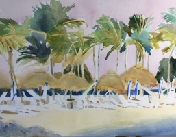 Wind in Key Largo,Original Watercolor