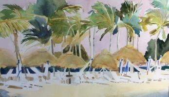 Wind in Key Largo,Original Watercolor