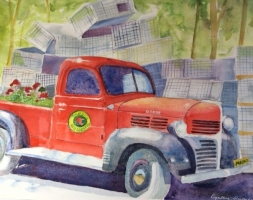 Thurston's Red Truck, Bass Harbor, Maine