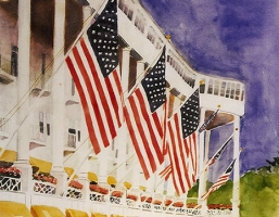"""Old Glory at the Grand"" – The Grand Hotel, Mackinac Island, Michigan"